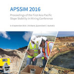 First Asia Pacific Slope Stability in Mining Conference, Brisbane September 2016